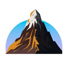mountain range emblem vector image