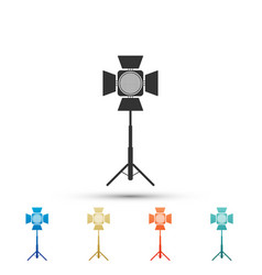 movie spotlight icon isolated on white background vector image