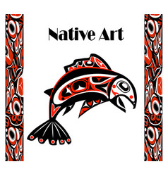 Native salmon vector
