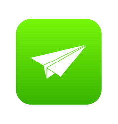 Paper airplane icon digital green vector