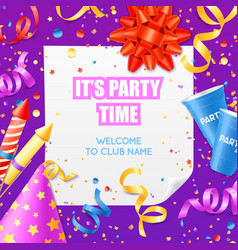 Party announcement invitation festiv template vector