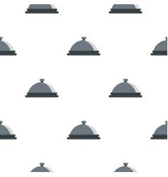 Restaurant cloche pattern flat vector