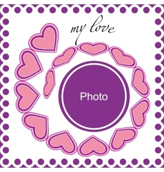 romantic photo frame vector image