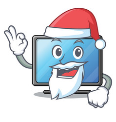 santa lcd tv isolated with the character vector image
