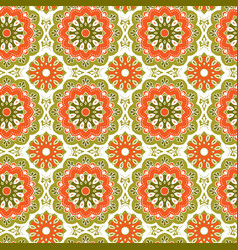 Seamless hand drawn mandala pattern vintage vector