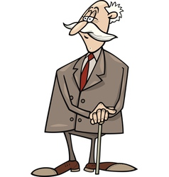 senior businessman with cane vector image