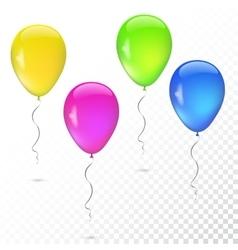 Set balloons various colors vector