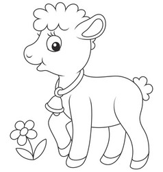 Small curly lamb vector