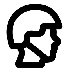 Soldier Head Stroke Icon vector image