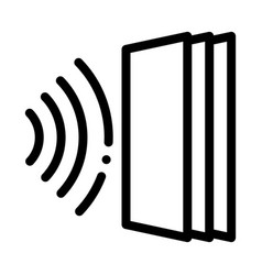 sound heading for door icon outline vector image