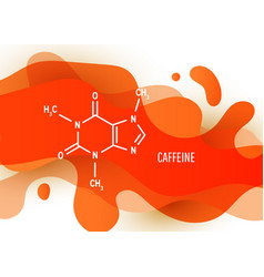 Structural chemical formula caffeine vector
