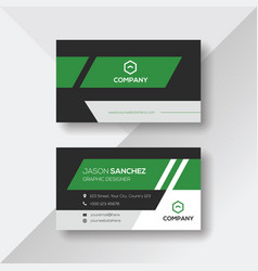 Stylish business card with green details vector