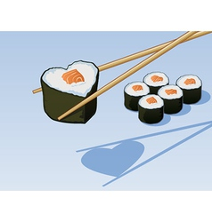 Sushi Love vector image