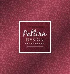 Swirl maroon color pattern vector