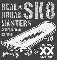 T-shirt typography design skateboard printing vector image