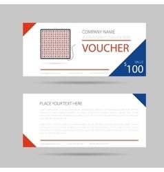 Template business voucher phytolamp vector