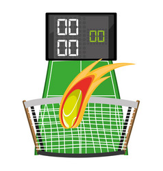 Tennis competition and poins game vector
