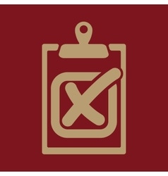 The checklist icon clipboard and failed task vector