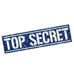 Top secret square grunge stamp vector