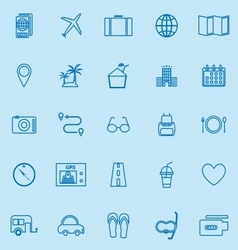 trip line color icons on blue background vector image