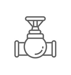 valve tap pipe connector line icon vector image