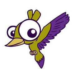big eyed bird vector image