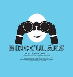 Binocular EPS10 vector image