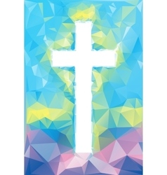 Colorful abstract cross vector