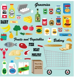 grocery clipart vector image