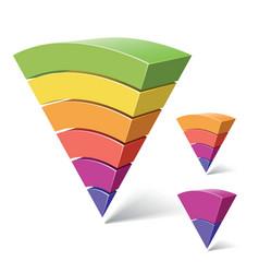 layered segments vector image vector image