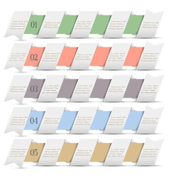 Modern numbered banners in origami style vector image vector image
