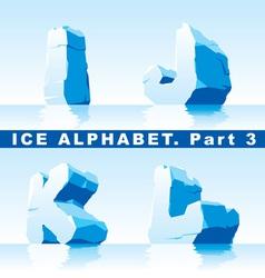 ice alphabet part 3 vector image