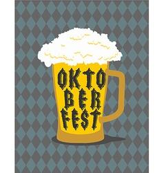 Oktoberfest Mug Beer typography Alcohol for vector image
