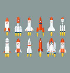 space rocket start up launch symbol innovation vector image vector image