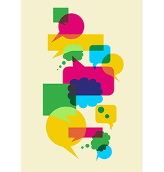 speech social interaction bubbles vector image vector image