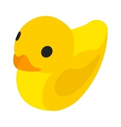 Toy duck isometric 3d icon vector
