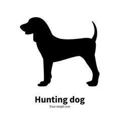 black silhouette hunting dog vector image vector image