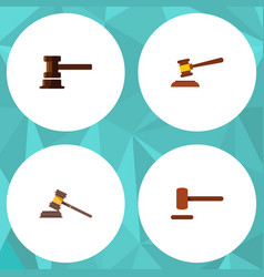 flat icon hammer set of defense government vector image vector image