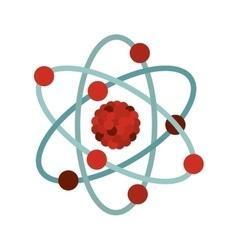 multicolored atom icon vector image vector image