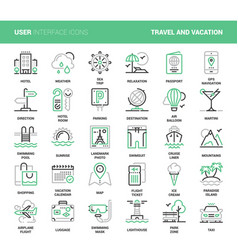travel and vacation vector image vector image