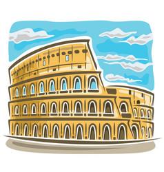Coliseum in rome vector