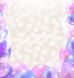 Color card with balloons vector