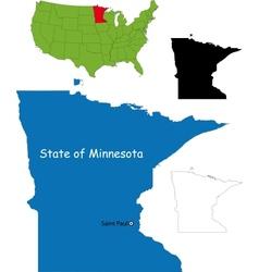 Minnesota map vector image vector image