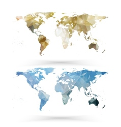 World map template triangle design vector image vector image