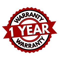 1 year warranty label or sticker vector image