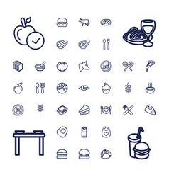 37 eat icons vector