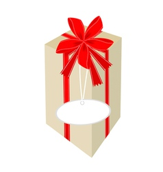 A Beautiful Tall Gift Box with Red Ribbon vector image
