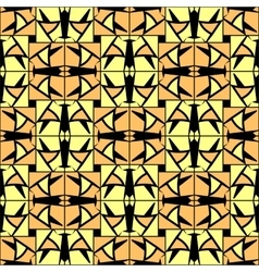 Abstract checkered lattice cells seamless pattern vector
