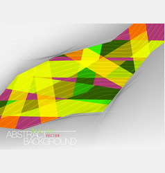 Abstract colors shape design vector