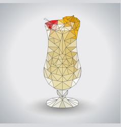 abstract polygonal tirangle cocktail pina colada vector image